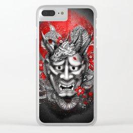 Hannya dragon mask Clear iPhone Case