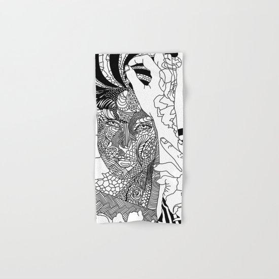 Inked Parisian Hand & Bath Towel