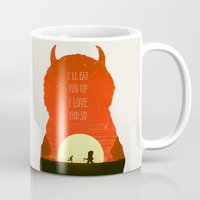 wild things Mugs featuring Wild Things by Duke Dastardly