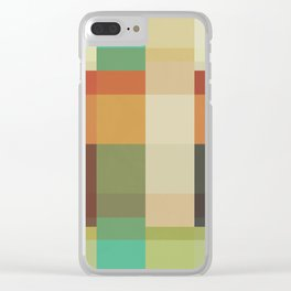 Retro Geometry Clear iPhone Case