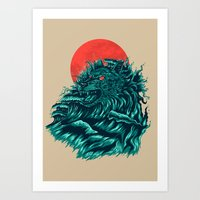 wave Art Prints featuring wave by itssummer85