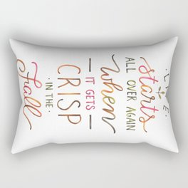 Crisp in the Fall - The Great Gatsby quote Rectangular Pillow