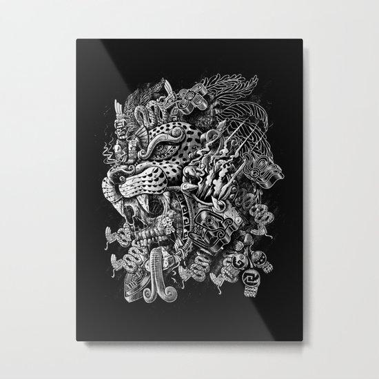 Jaguar Warrior Metal Print