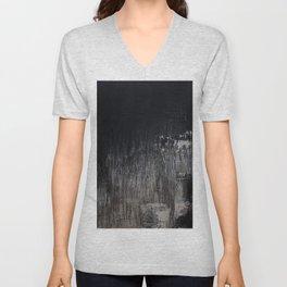 Black beige abstract Unisex V-Neck
