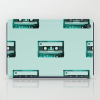 cassette iPad Cases featuring cassette by Ginger Pigg Art & Design