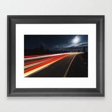 Moonlit Drive Framed Art Print