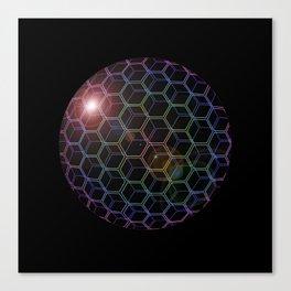Rainhex Circle (Black Detail) Canvas Print