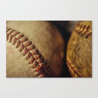 baseball Canvas Prints featuring Baseball by Chee Sim