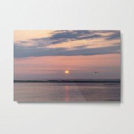 Mauve and Lavender Sunrise Over Monomoy Island Metal Print