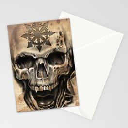 Skull Tattoo Stationery Cards