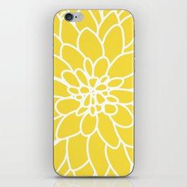 Modern Yellow Dahlia Flower iPhone Skin
