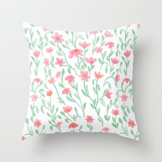 Rose Green Garden Throw Pillow
