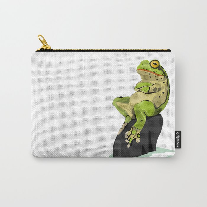 Relaxing Frog Carry-All Pouch