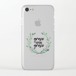 Grace Upon Grace Clear iPhone Case
