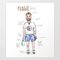 Fudgie (Male) Art Print