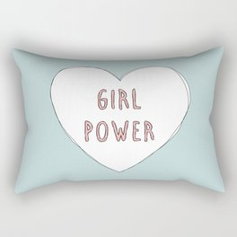 Girl power heart illustration - Girl Gang Prints Rectangular Pillow