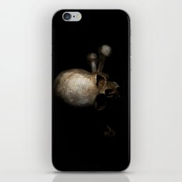Male skull with bones iPhone Skin