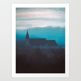 Black Church solitude Art Print