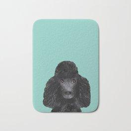Toy Poodle black poodle pet portrait custom dog art dog breeds by pet friendly Bath Mat