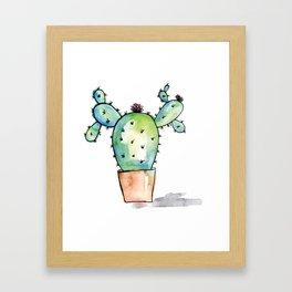 Watercolor Cactus Framed Art Print