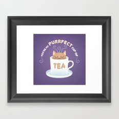 You're my Purrfect Cup of Tea Cat Framed Art Print