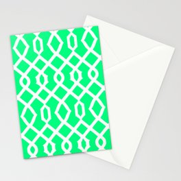 Grille No. 3 -- Seafoam Stationery Cards