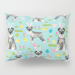Schnauzer easter costume spring easter bunny pure breed dog pattern gifts Pillow Sham