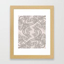 Bridal Blush Fractal Framed Art Print