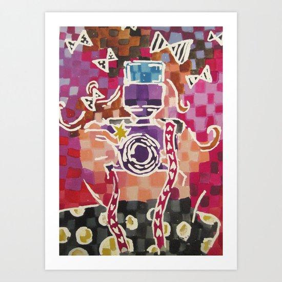 Lil Blogger Girl Art Print
