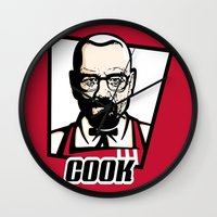 cook Wall Clocks featuring Heisenberg Cook by Maioriz Home