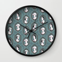 Crawley girls victorian downton Wall Clock