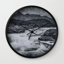 One Day in the Mountains II Wall Clock