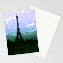 Paris Eiffel Tower Periwinkle Teal Aqua Stationery Cards
