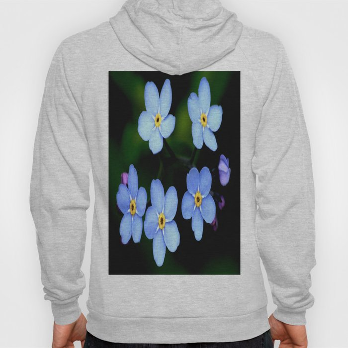 Forget-me-not Tiny Blue Flowers #decor #society6 Hoody