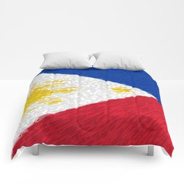 Extruded flag of the Philippines Comforters