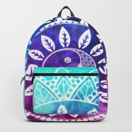 Divine Dream Pink Purple Blue Mandala Backpack