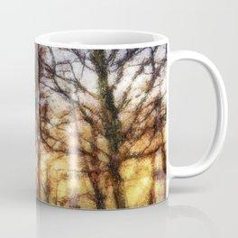 Pastel Sunset Trees Coffee Mug