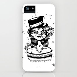 Top Hat Girl iPhone Case