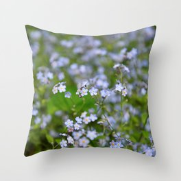 Forget-me-not Close up Throw Pillow