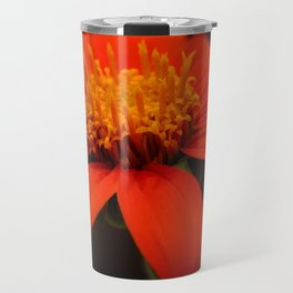 Red African Daisy Travel Mug