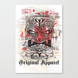 Tiki Mask - Original Apparel Canvas Print