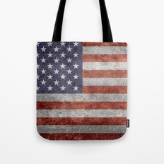 Flag of the United States of America in Retro Grunge Tote Bag