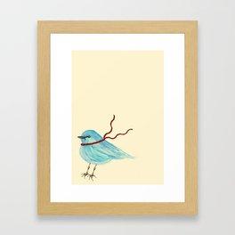 Winter Bluebird  Framed Art Print