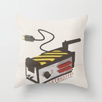 ghostbusters Throw Pillows featuring Ghostbusters by JAGraphic