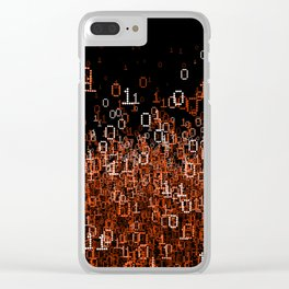 Binary Cloud II Clear iPhone Case