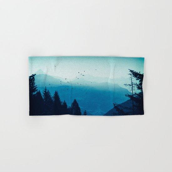 Blue Valmalenco - Alps at sunrise Hand & Bath Towel