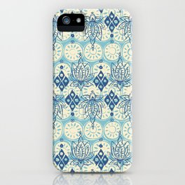 lotus diamond blue iPhone Case