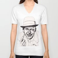 frank V-neck T-shirts featuring Frank by Paul Nelson-Esch Art