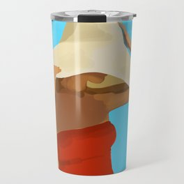 At The Beach: Red Suit Travel Mug
