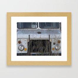 Grass Grown into a Motor Framed Art Print